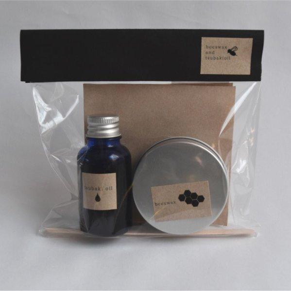 画像1: 伊集院物産 蜜ろうと椿油のクリームキット (1)